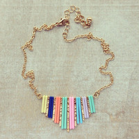 Pree Brulee - Rainbow Accordion Necklace