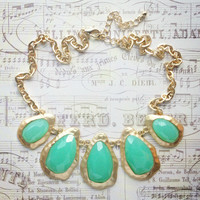 Pree Brulee - Mint Pistachio Macaron Necklace