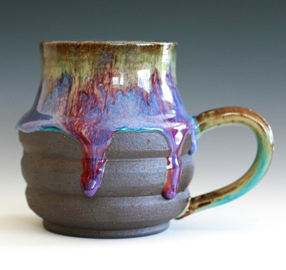 Large Coffee Mug Holds 17 oz handmade ceramic cup by ocpottery