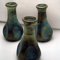 Small Etruscan Decorative Bottles | LookingThroughGlassPaintings - Housewares on ArtFire