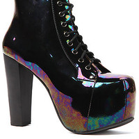 Jeffrey Campbell Shoe Lita in Black Iridescent