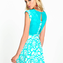 Print Chiffon Skater Dress