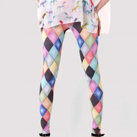 Multi Color Diamond Painting Legging