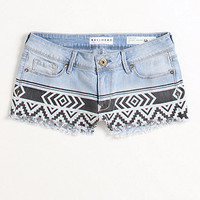 Bullhead Print Blocked Denim Shorts at PacSun.com