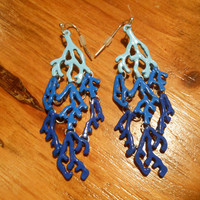 Blue Coral Earrings | Candy's Cottage