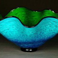 Two Tone Wavy Bowl by dunnikerdesigns on Etsy