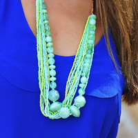 Rock Candy Necklace: Seafoam Green | Hope's