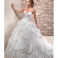 Maggie Sottero Spring 2013 - Amaryllis Ivory Chic Organza Wedding Gown - Unique Vintage - Prom dresses, retro dresses, retro swimsuits.
