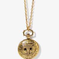 Owl Locket Necklace | FOREVER 21 - 1054625972