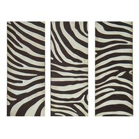 Zebra Stripe Wall Art Set of 3