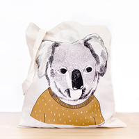 Koala - screen printed canvas Tote bag