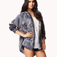 Oversized Mineral Wash Shirt | FOREVER 21 - 2061446328