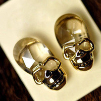 cool fashion transparent Skull earring