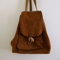 Etsy Transaction -        Vintage Suede Back Pack