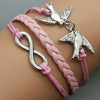 birdie Pink rope bracelet