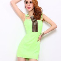 Halter Slim Sleeveless Dress FF007