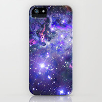 Purple Nebula Galaxy iPhone Case iPhone & iPod Case by RexLambo