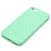 Soft Mint Waving Case for iPhone 5