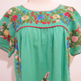 Mexican Embroidered Blouse Split Sleeves In Green by chokethai