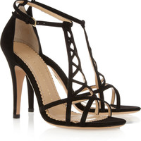 Charlotte Olympia|Marianne suede sandals|NET-A-PORTER.COM