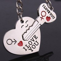 lulula — cute lovers with smile key chain