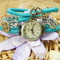 Four-leaf Clover Charm Multi-wrap Watch