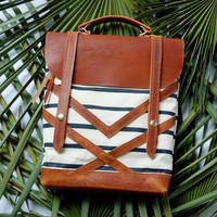 The Coastal Bag in Tico Stripe