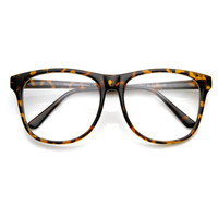 Retro Large Round Wayfarer Indie Hipster Fashion Glasses 8790
