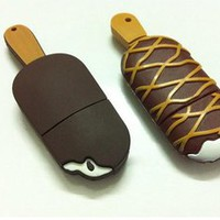 lulula — cute Stripe ice cream lovely cartoon Creative USB flash disk 16G
