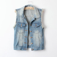 SakuraShop — West Street Style Denim Vest