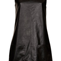 Leather-look Pinafore Dress - New In This Week  - New In