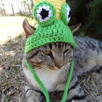 Cat Hat Costume Small Dog Hat Costume - Frog Prince Hat Costume - The Frog Prince Cat's Hat