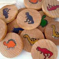 Wooden Memory Game  Dinosaurs by BrightLifeToys on Etsy