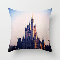 Cinderella's Castle Throw Pillow by Julianna Rae