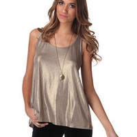 DJPremium.com - Women - Shop by Department - Tops - Sinead Metallic Tank