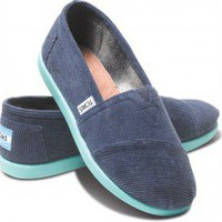 Navy Cord Pop Youth Classics | TOMS.com