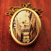 Paris Is A Feeling Fine Art Photo Locket by HeartworksByLori