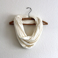 Classic Ivory Circle Scarf loop - Ivory infinity scarf