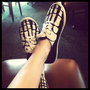 Women&#x27;s Hand Painted Keds Style Skeleton Shoes by HeartsandParts