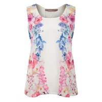 Mirror Print Lace Back Top