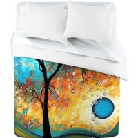 Amazon.com: DENY Designs Madart Aqua Burn Duvet Cover, Queen: Home & Kitchen