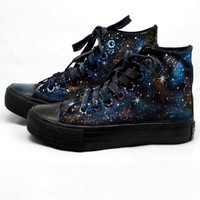 Fashion Luminous Star Print Canvas Boots - OASAP.com