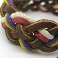 5 colour  Adjustable Fashion Leather and by jewelrybraceletcuff