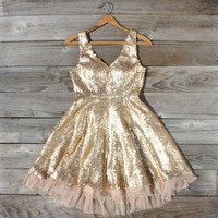 Dazzling Dusk Party Dress, Sweet Women's Bohemian Clothing