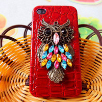 Hard Case Cover With Bronze Cute Owl For Apple by feihong2012