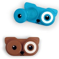 Dog Puppy Face Contact Lens Case in Assorted Colors