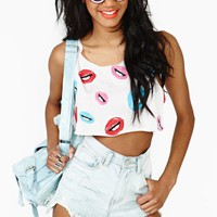 Pop Kiss Crop Tank