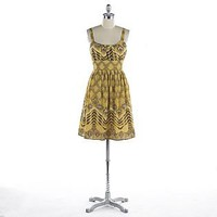 Wrapper- -Patterned Fully Lined Cotton Dress-Clothing-Juniors-Dresses