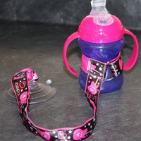 Princess Rock Sippy Strap with Suction Cup by ChunksBabyJunk