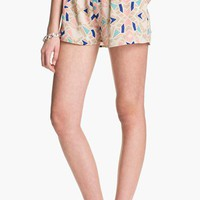Blu Pepper Geo Print Pleated Shorts (Juniors) (Online Exclusive) | Nordstrom